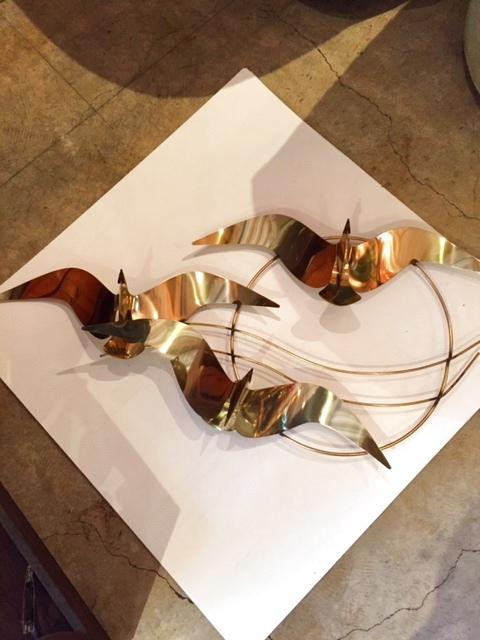 """画像1: """"Curtis Jere""""Brass Wall Sculpture (1)"""
