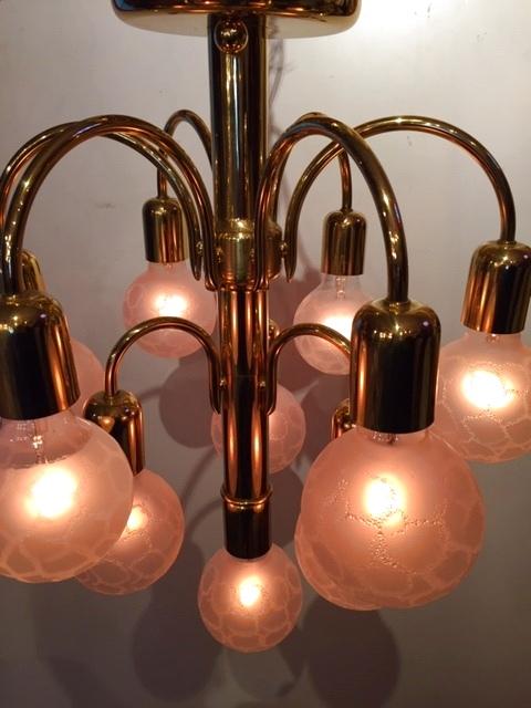 画像1: Modern Gold Pendant Light (1)