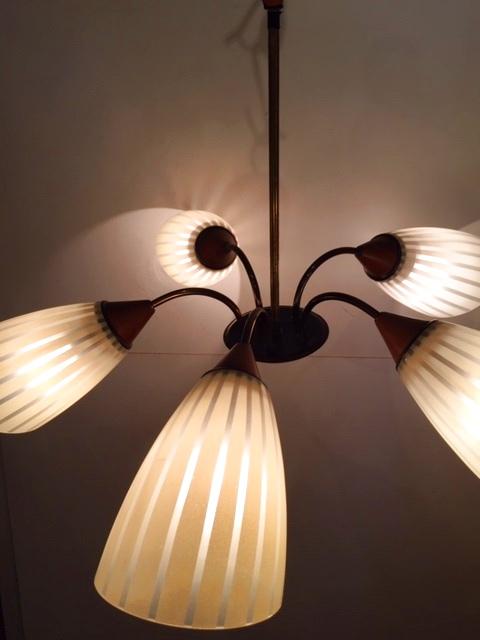 画像1: 5灯Modern Pendant Light (1)