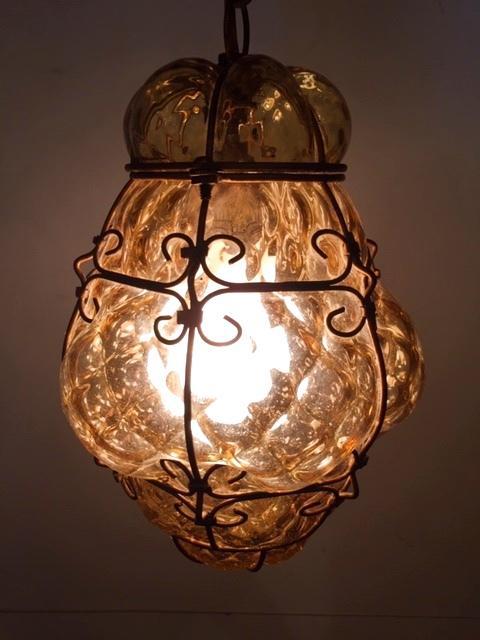 "画像1: ""Murano"" AnberGrass Pendant Light (1)"