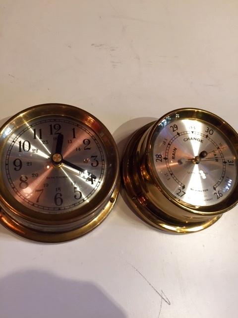 """画像1: """"SETH THOMAS"""" Marine Clock&Berometer (1)"""