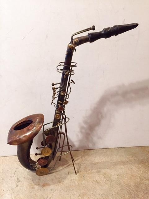 """画像1:  """"Saxophone"""" Brass Ornament (1)"""