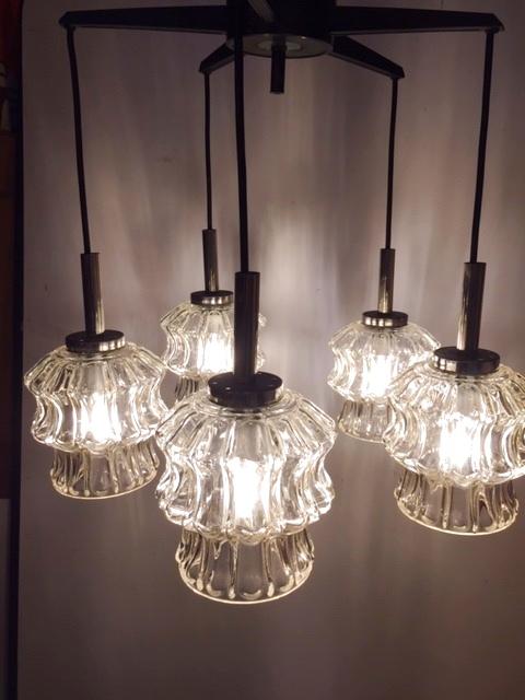 画像1: Modern5灯Pendant Light (1)