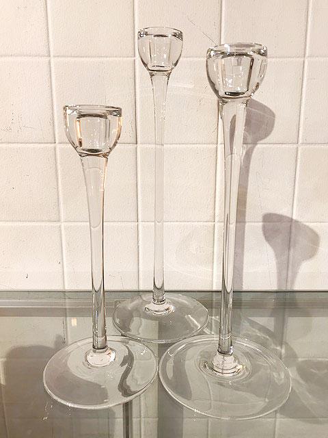 画像1: 3P Glass Candle Stand (1)