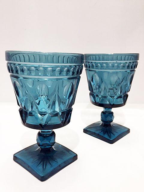 画像1: Vintage Blue Stained Glass (1)