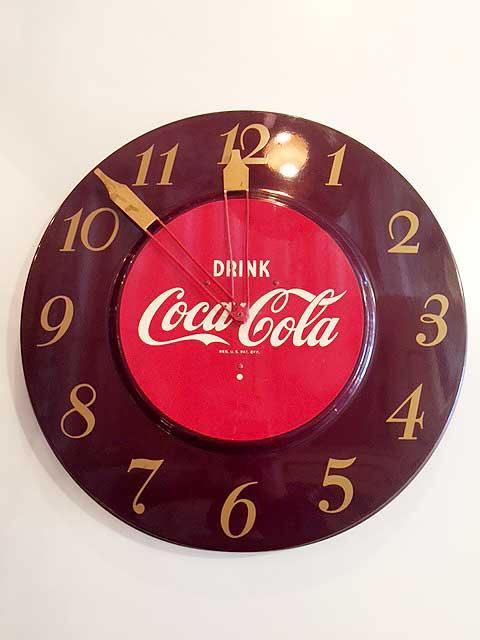 """画像1: Vintage """"Coca Cola"""" Clock (1)"""