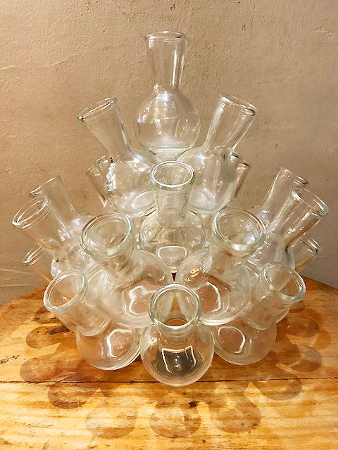 "画像1: ""Flask Bubble"" Glass Vase (1)"