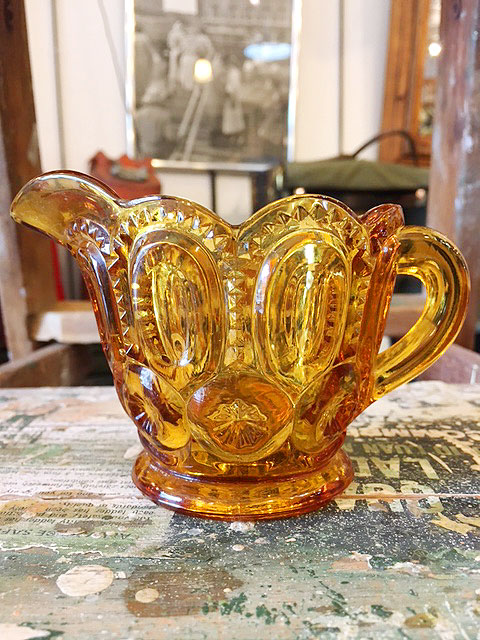 画像1: Vintage Orange Stained Glass (1)