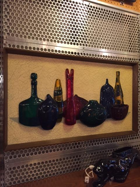 "画像1: ""Richter Artcraft"" Glass Bottle Wall Art (1)"